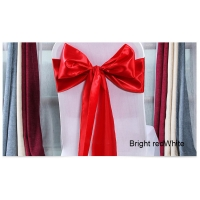 Buy cheap Standard Size Red Wedding Lace Up Satin Chair Sashes from wholesalers