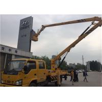 Buy cheap Yellow Truck Mounted Boom Lift , Truck Mounted Aerial Platform 12V / 24V Voltage from wholesalers
