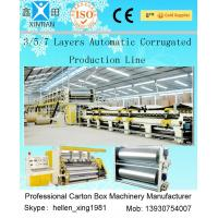 Buy cheap 3 Layers Corrugated Packaging Box Making Machine 70m * 8.2m * 4.5m For Paperboard from wholesalers