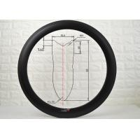 Buy cheap 700c Racing Carbon Road Rims 16 To 36 Spokes Holes Absorbing Road Vibration from wholesalers