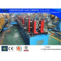 Buy cheap PLC Control Roofing Sheet C Z Purlin Roll Forming Machine 10-15m/Min from wholesalers