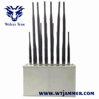 Buy cheap 14 Band Desktop 2G 3G 4G WiFi Lojack VHF UHF Radio Mobile Phone Signal Jammer product