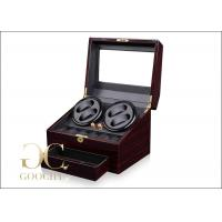 Buy cheap PU Leather 4 Piece Battery Powered Watch Winder Boxes With Tempering Glass Top from wholesalers