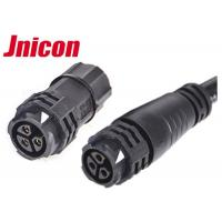 Buy cheap Black 3 Pin Circular Connector Waterproof Assembly And Molded Cable 3 Pole Female Adapter from wholesalers
