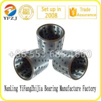 Buy cheap Self lubricating bearing graphite inlaid solid lubricating steel bearings,steel sleeve from wholesalers