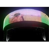 Buy cheap Flexible IP65 Transparent LED Wall Mesh Screen 1R1G1B , 2000-5000 HZ Refresh Rate from wholesalers