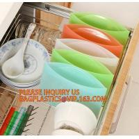 Buy cheap Reusable Silicone Food Storage Bag Washable Silicone Fresh Bag for Fruits Vegetables Meat Preservation bagease bagplasti from wholesalers