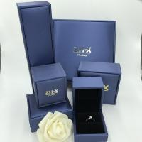 Buy cheap Champagne Blue Ring Jewelry Box , Brushed Box Displays For Jewellery from wholesalers