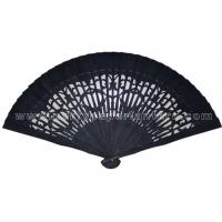 Buy cheap Black White Wooden Fans For Wedding Favors With 8 Inch , 9 Inch , 12 Inch Length from Wholesalers