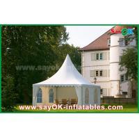 Buy cheap Waterproof 10x10 Aluminum PVC Folding Tent China 10x10 Pagoda Tent product