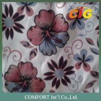 Buy cheap 145CM Width 100% Polyester 220GSM Flock Jacquard Sofa Fabric Fire retardant from wholesalers