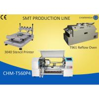 Buy cheap 3040 Stencil Printer + 60 Feeders Pick and place Machine + T961 Reflow Oven , SMT production Line from wholesalers