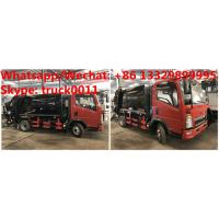 Buy cheap HOT SALE! customized SINO TRUK HOWO 4*2 RHD 4.5m3 garbage compactor truck,HOWO Light duty refuse garbage truck, from wholesalers
