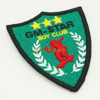 Buy cheap Iron On Backing Custom Made Embroidered Badges For Clothing OEM / ODM Service from wholesalers