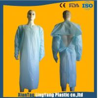 Buy cheap Lightweight Disposable Plastic Gowns / Patient Surgical Gowns Anti Blood from wholesalers