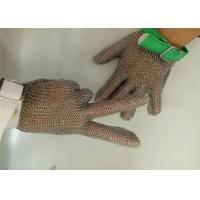 Buy cheap Textile Strap Safety Metal Gloves With Five Fingers , 304L Chainmail Gloves from wholesalers
