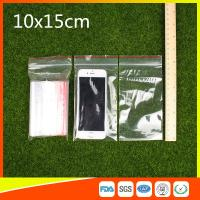 Buy cheap 10 x 15 Clear Reclosable Zipper Plastic Bag / Self Sealing Poly Bag from wholesalers