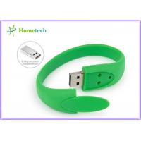 Buy cheap Green Silicon Wristband Bracelet Usb Flash Drive 512MB 1GB  2.0 Pen Drive from wholesalers