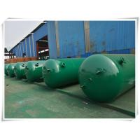 Buy cheap 10mm Thickness Vertical Compressed Air Reservoir Tank With Flange / Screw Thread from wholesalers