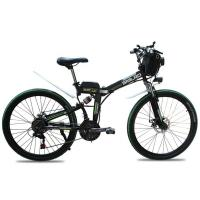 Buy cheap 26 Inch Electric Mountain Bicycles 46V 10AH Lithium Battery 350W Folding from wholesalers