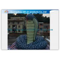Buy cheap Giant Inflatable Cartoon Characters Snake Model With Silk Print , Hand Painting product