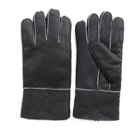 Buy cheap Spain merino shearling lamb fur glove patched glove sheep skin gloves from wholesalers