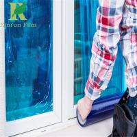 Buy cheap 0.025-0.20mm Blue Clear Self-adhering Sticky Film for Glass Surface from wholesalers