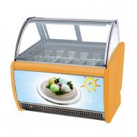 China 12 Pans Intalian Gelato Ice Cream Display Freezer Fully Automatic Operation on sale