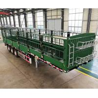 Buy cheap 30-100 Tons 4 Axles Heavy Duty Semi Trailers Cargo Livestock Sugar Cane Stake Fence 13m from wholesalers