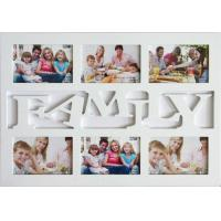 Buy cheap hot salefamily photo frame wood photo frame6 opening photo frame multi picture photo frame from wholesalers