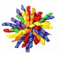Buy cheap Colorful 4.5 Grosgrain with dot Curly Ribbon bow for  Korker Hair Bow Clips from wholesalers