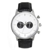 Buy cheap Waterproof Black Mens Classic Leather Strap Watches with Quartz Movement from wholesalers