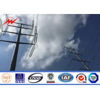 Buy cheap 17M AWS D1.1 Galvanized Steel Pole / Steel Transmission Poles ISO Certification product