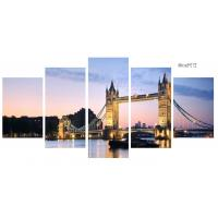 Buy cheap Customized Canvas Prints Wall Art Tower Bridge Sunset Scenery Long Life Span from wholesalers