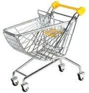 Buy cheap Supermarket Shopping Trolleys Basket Logo can be printed on Trolley handle HBE-J-6 from wholesalers