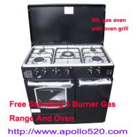 Buy cheap Gas Range Cooker Oven with 5 gas burner cooktop from wholesalers