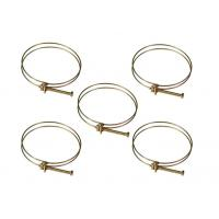 Buy cheap Galvanized Iron Hose Clamp Clip Double Wire Hose Pipe Clamp With Screw Bolt Locking from wholesalers
