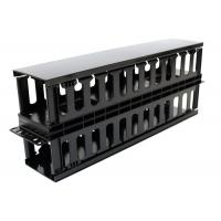 Buy cheap Plastic Dual Sided Finger Duct Cable Management , Horizontal Rack Mount Brush Panel product