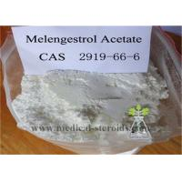 Buy cheap Melengestrol Acetate Raw Steroid Powders Light Tan Solid For Anti Cancer , CAS 2919-66-6 from wholesalers