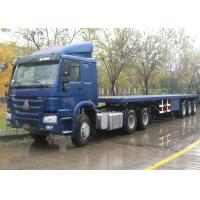 Buy cheap Container Chassis Trailer Flat Bed Trailors , Skeleton Semi Low Bed Semi Trailer from wholesalers