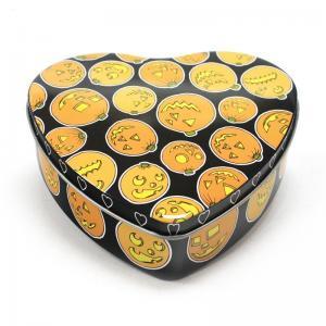 Buy cheap Set Of 5 Halloween Pumpkin Heart Tins product
