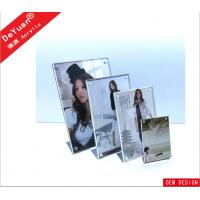 Buy cheap Transparent Acrylic Photo Frames Plexiglass Magnetic L Shape 130 × 170MM from wholesalers