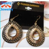 Buy cheap Newest big large American indian golden teardrop dangle drop earrings from wholesalers