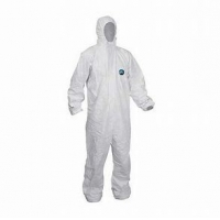 Buy cheap Dustproof White PP PE SMS Breathable Disposable Coveralls product