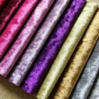 Buy cheap crushed velour/crushed velvet fabric from wholesalers