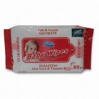 Buy cheap Baby Wet Wipes, Measures 15 x 20cm product
