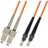 Buy cheap multimode Duplex Fiber Optic Patch Cable 3M ST-SC 50/125 Orange from wholesalers