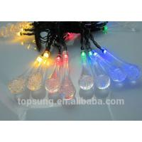 Buy cheap solar led outdoor lights 20leds water drop 5m chiristmas lights from wholesalers