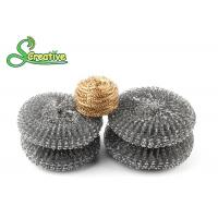 Recyclable Hot Dip Galvanized Steel Wire Scourer For BBQ Grill Cleaning Round Shape
