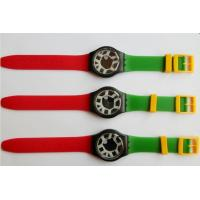 Buy cheap Country Flag Color Swatch Silicone Watches Women For National Day Gift from wholesalers